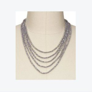 Saachi Multi Strand Crystal Glass Beaded Necklace